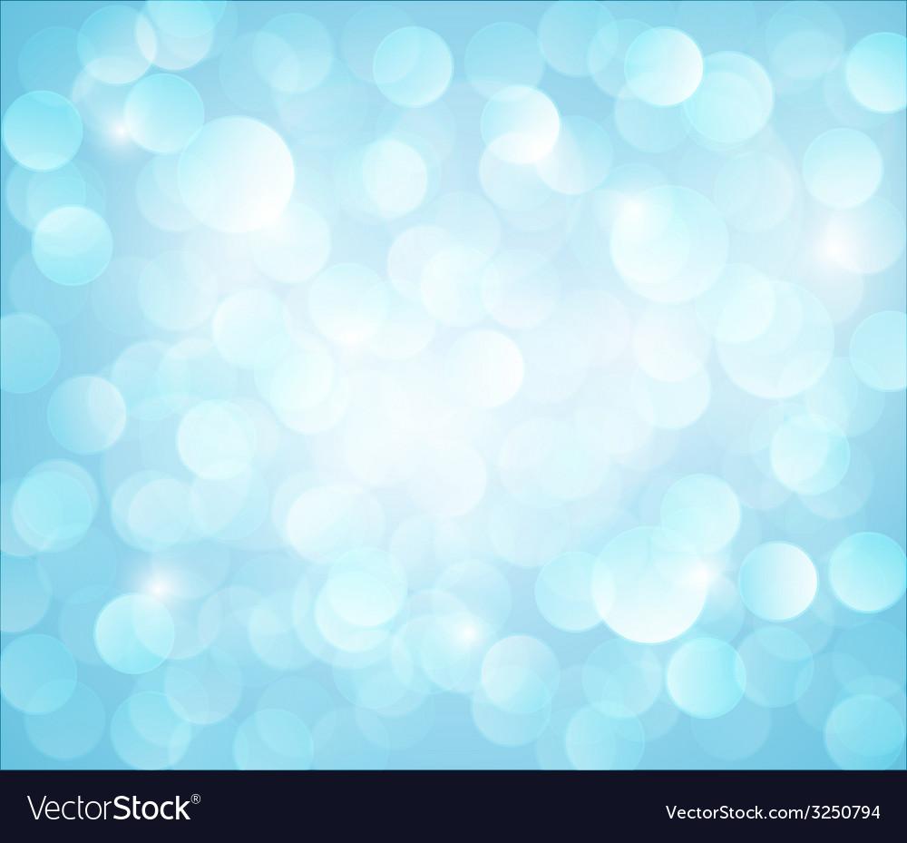 Light blue bokeh background vector image