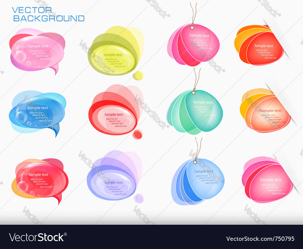 Abstract colorful speech bubbles vector image