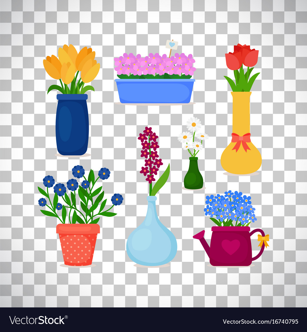 Vases and pots gallery vases design picture spring flowers in pots and vases royalty free vector image spring flowers in pots and vases reviewsmspy
