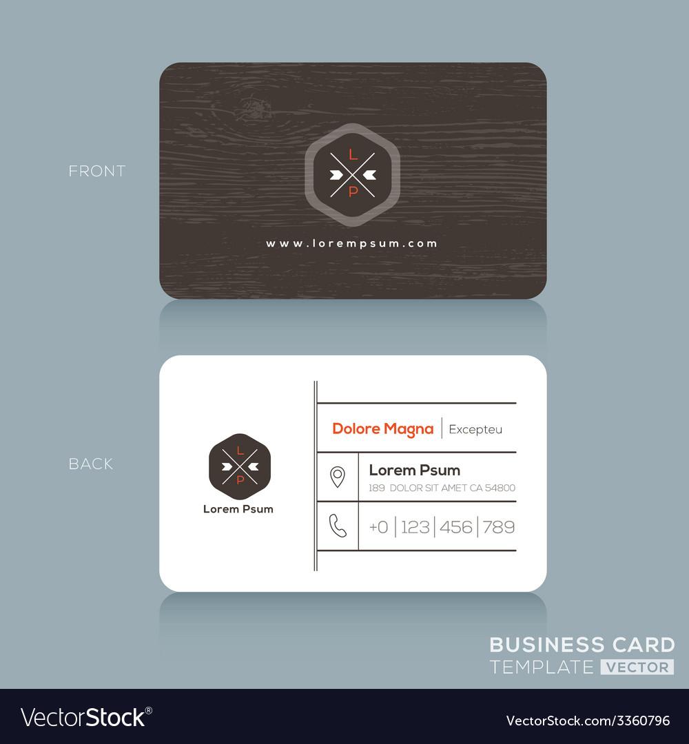 Modern business card design template royalty free vector modern business card design template vector image wajeb Choice Image