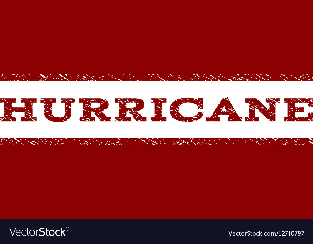 Hurricane Watermark Stamp vector image