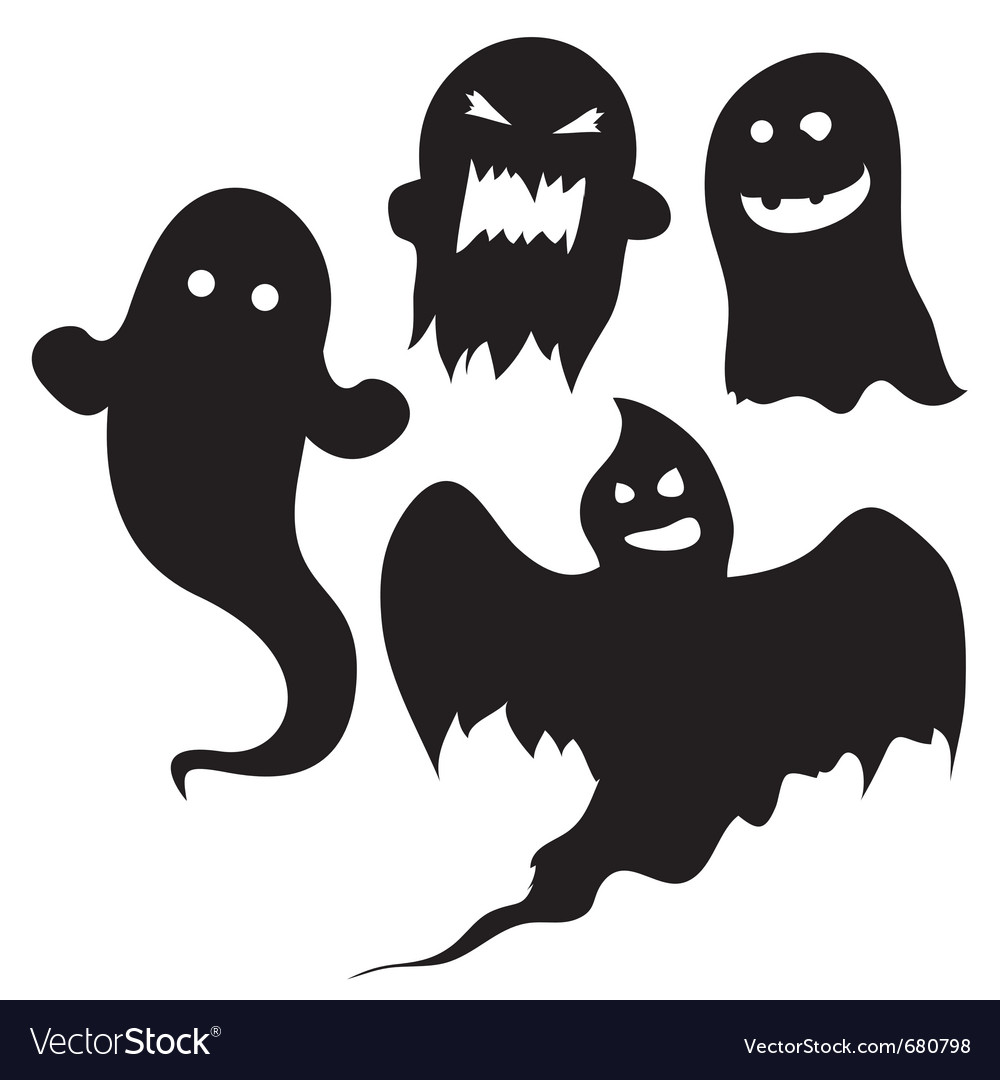 halloween silhouettes royalty free vector image