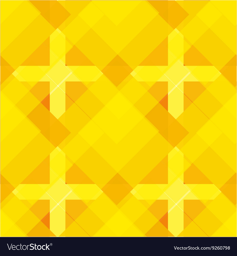 Seamless yellow geometrical pattern vector image
