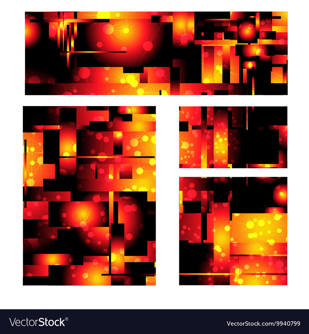 Fiery abstract background vector image