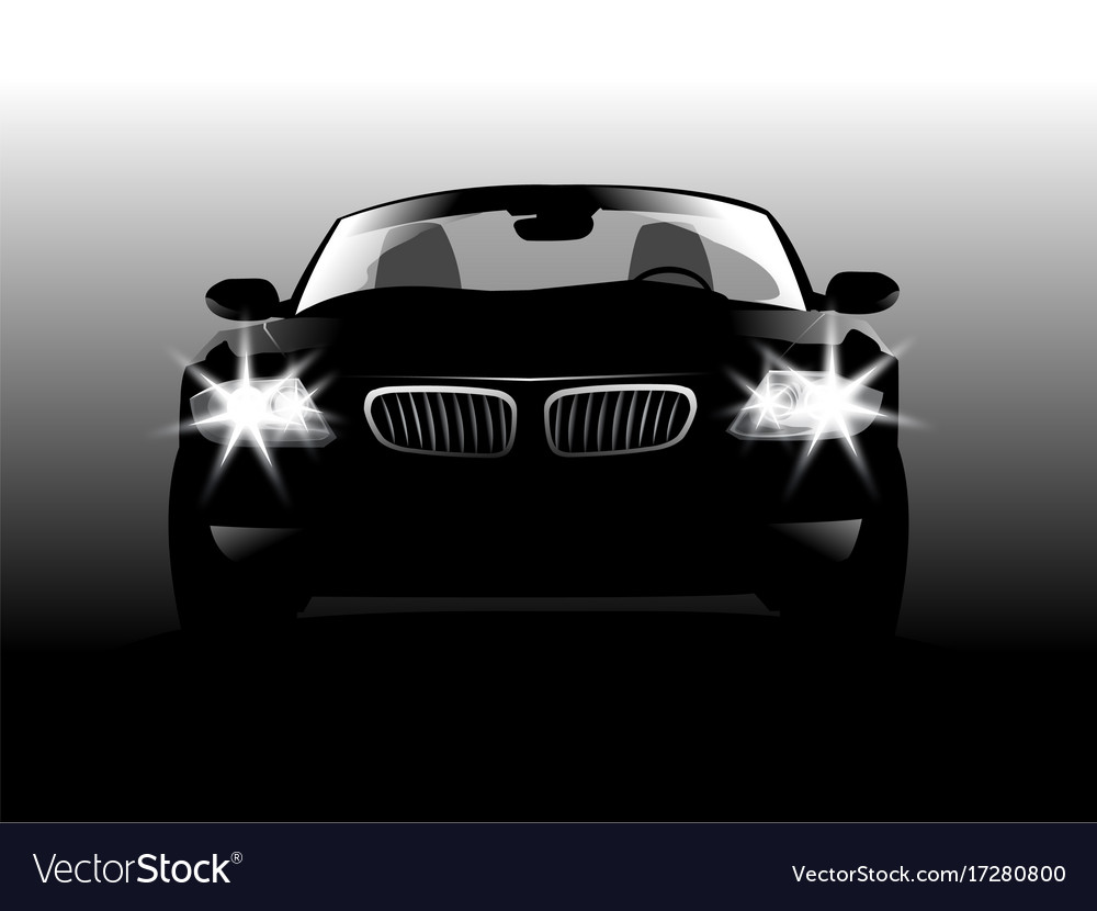 Car on gray background vector image