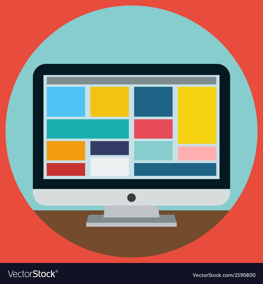 Moden monitor vector image