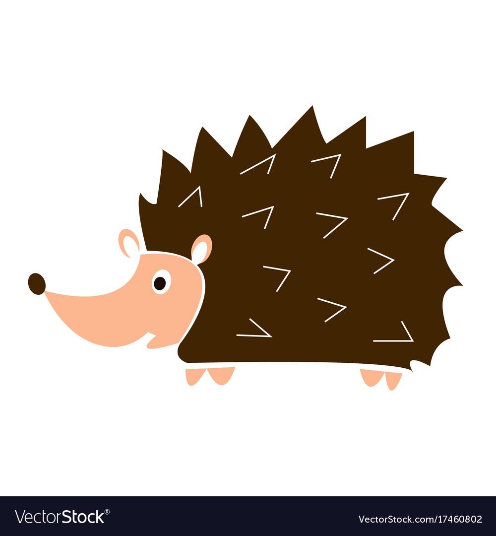 Cartoon funny hedgehog vector image