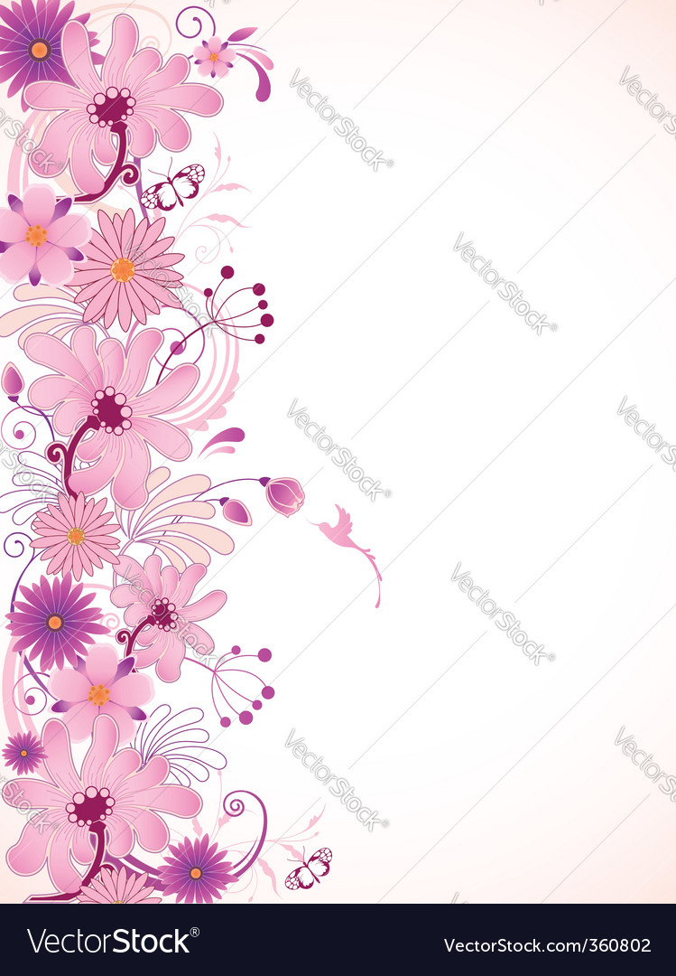 pink floral background royalty free vector image