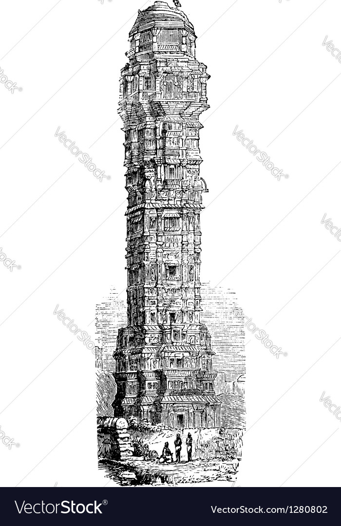 Tower of Victory India vector image