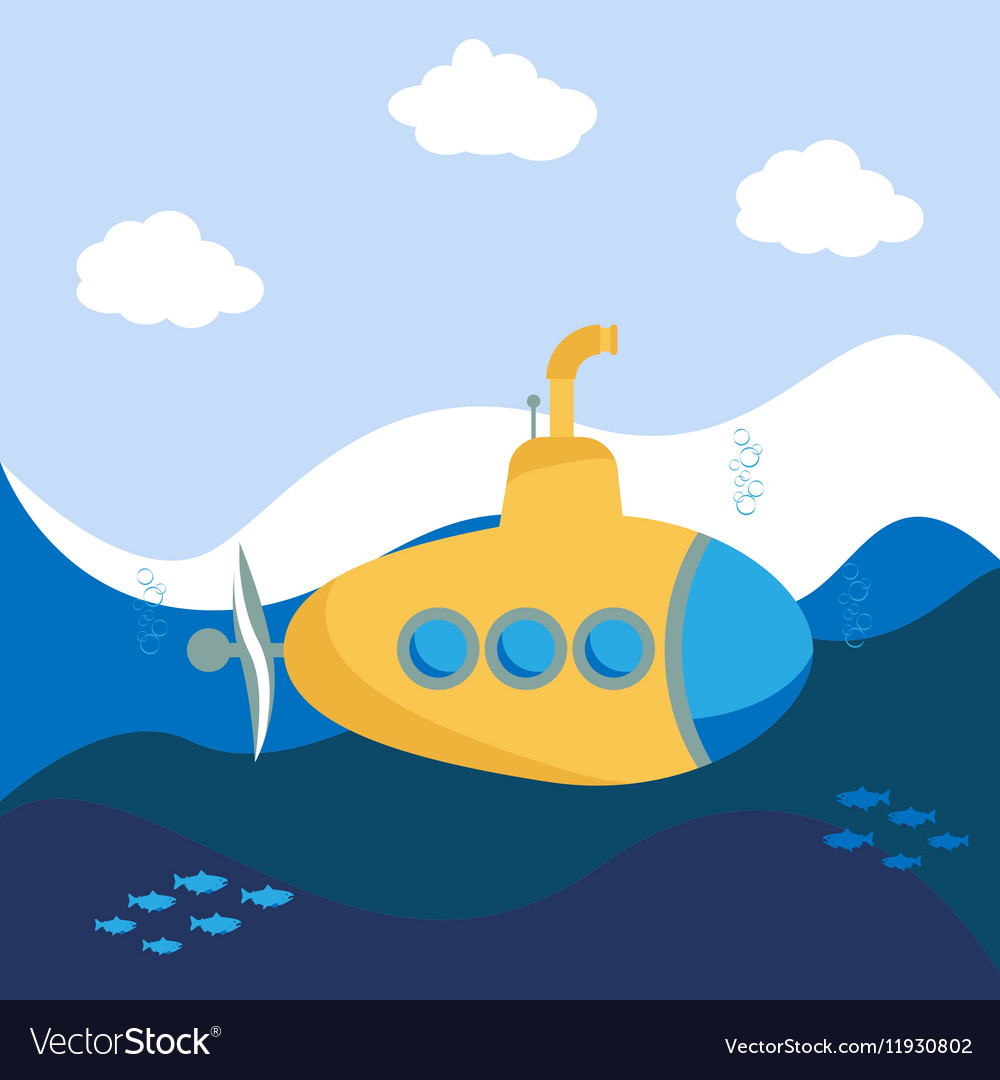 Yellow Submarine vector image