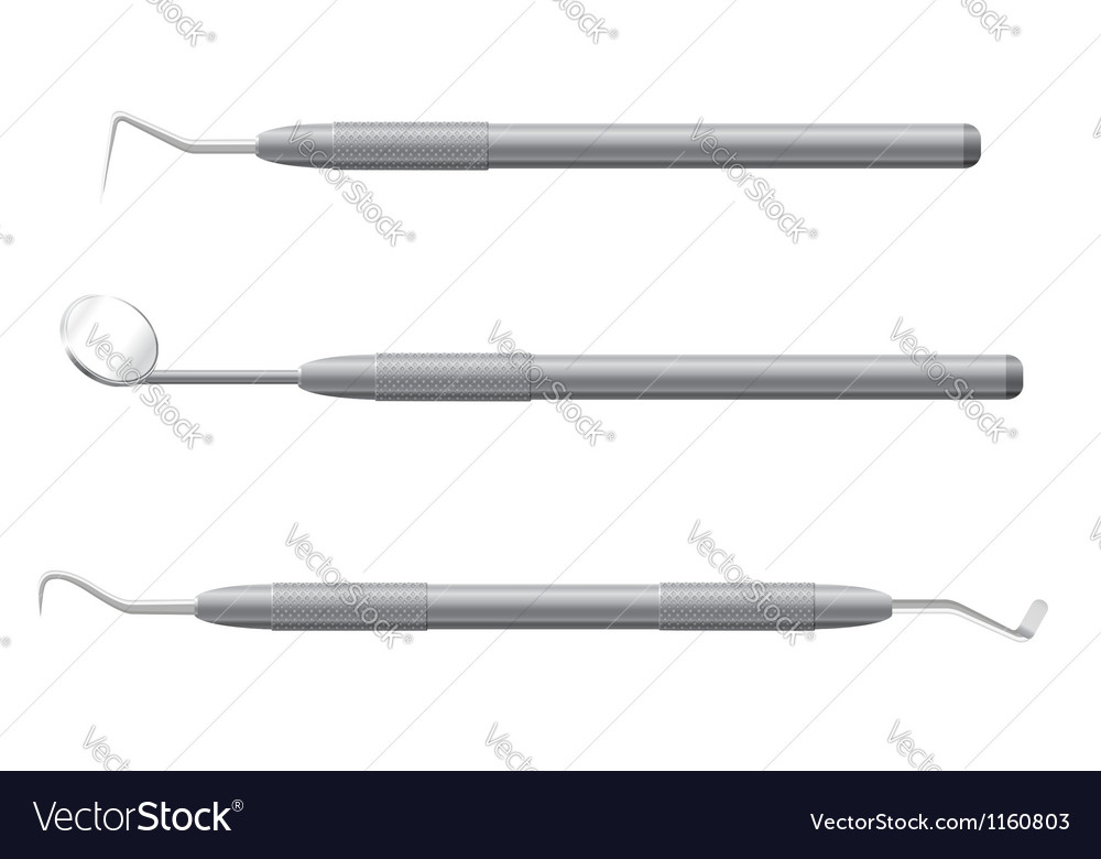 Dental instruments vector image
