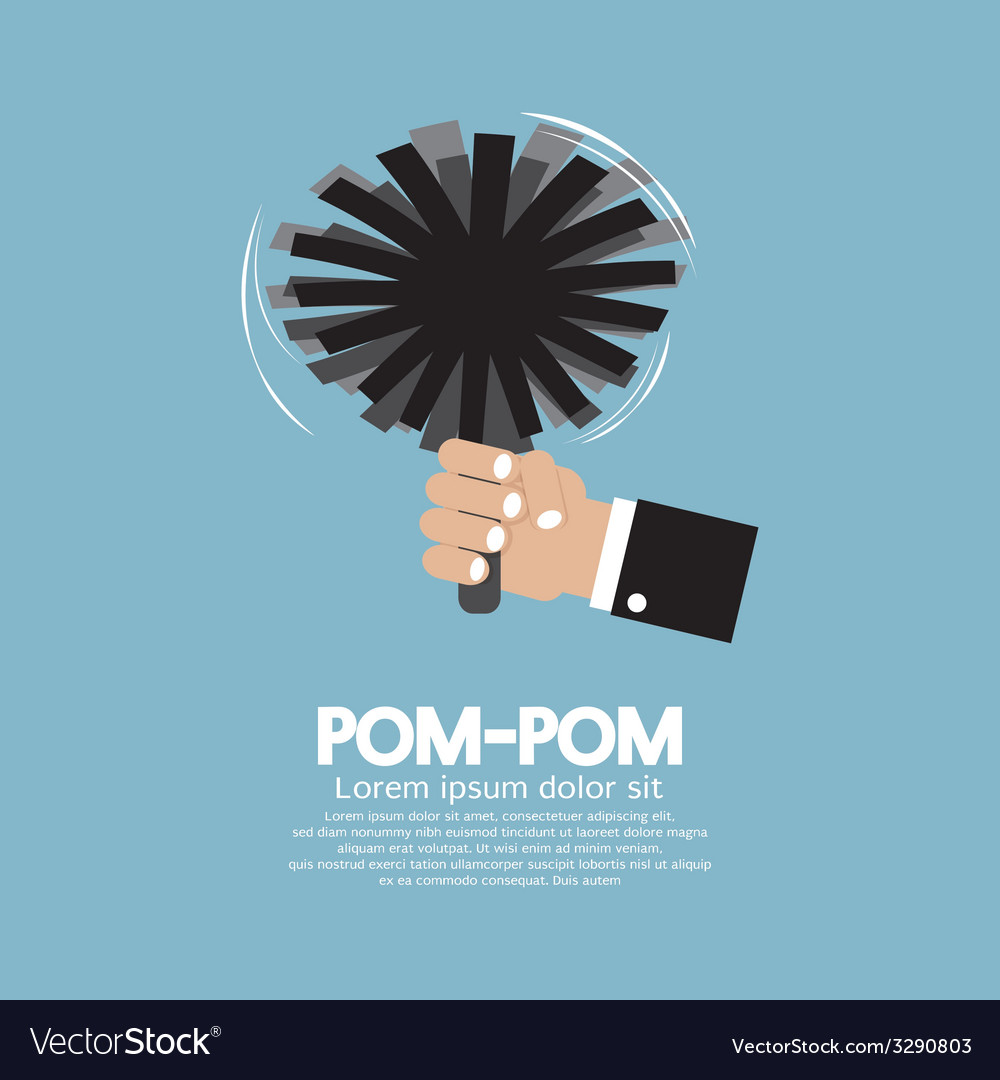 Pom-Pom Of Cheerleader vector image