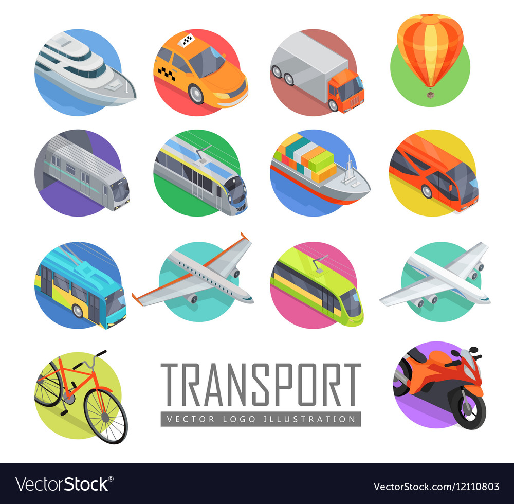 Transport Logo Set of Icons vector image