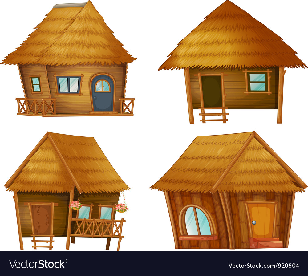 Hut series vector image