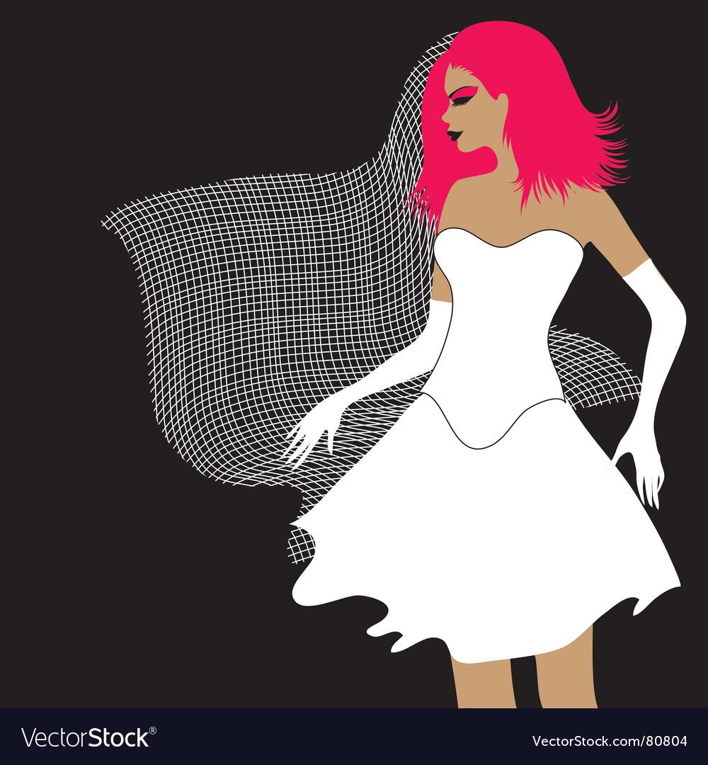 Emo bride vector image
