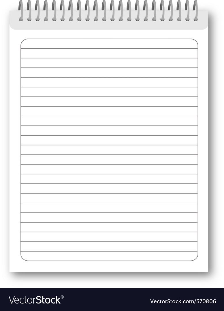 Spiral notebook vector image