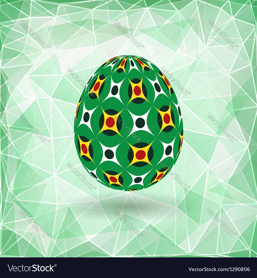 Colorful Easter egg vector image