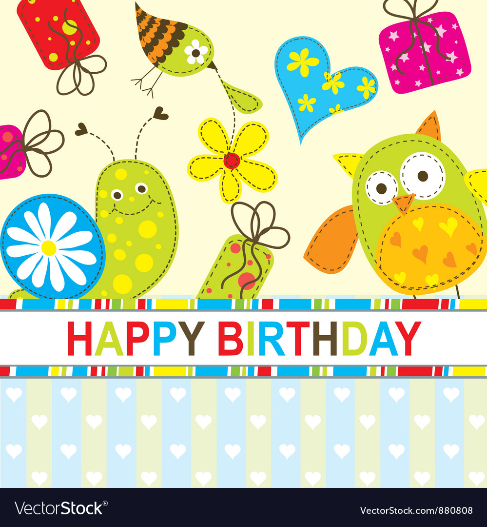 Children birthday card royalty free vector image children birthday card vector image bookmarktalkfo Choice Image