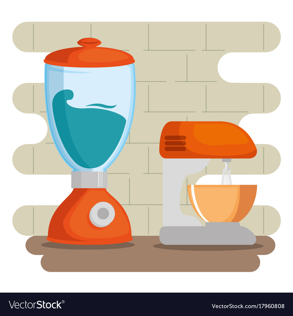 Colorful kitchen utensils Royalty Free Vector Image