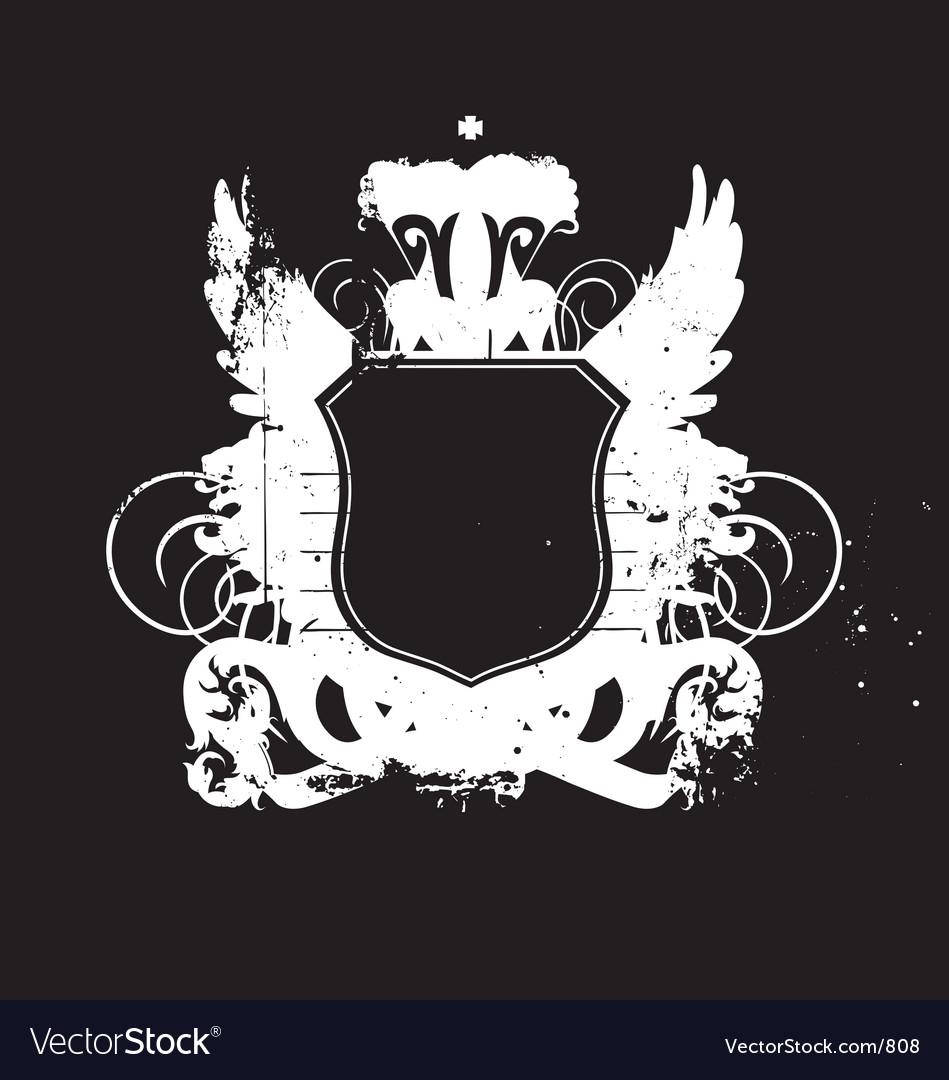 Heraldry shield version 02 grunge vector image