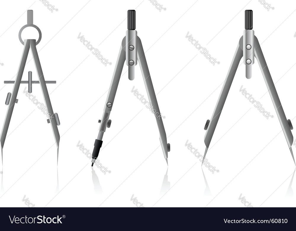 Drawing compasses vector image