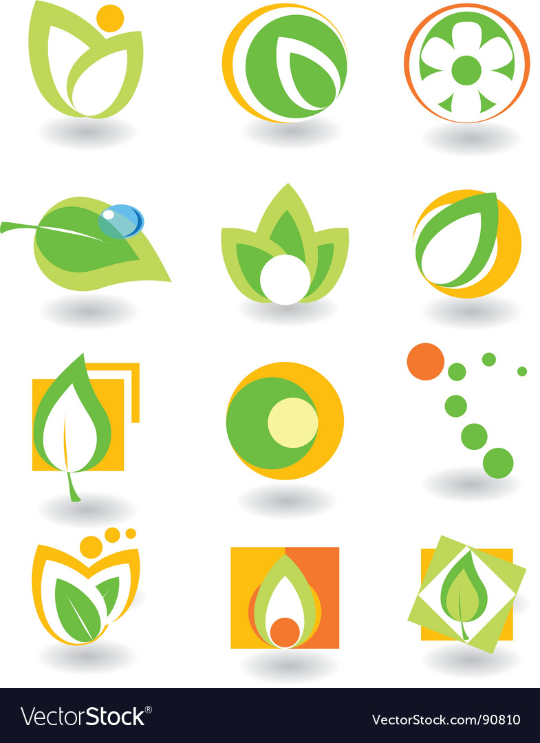 Elements nature vector image