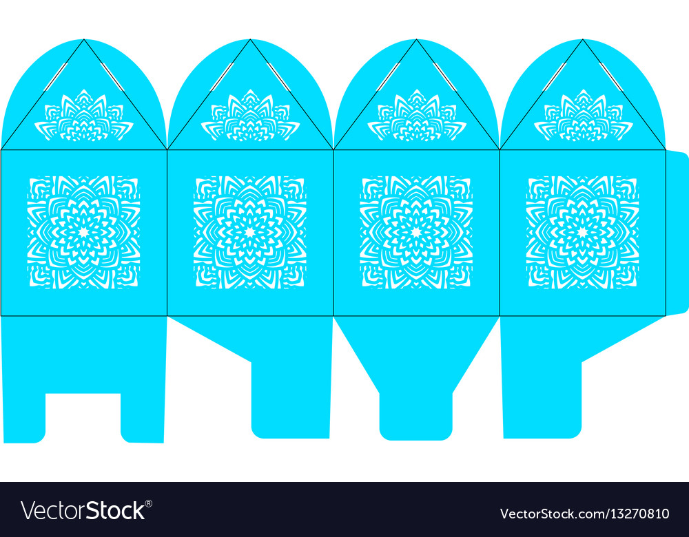 Birdcage favor box wedding gift box vector image