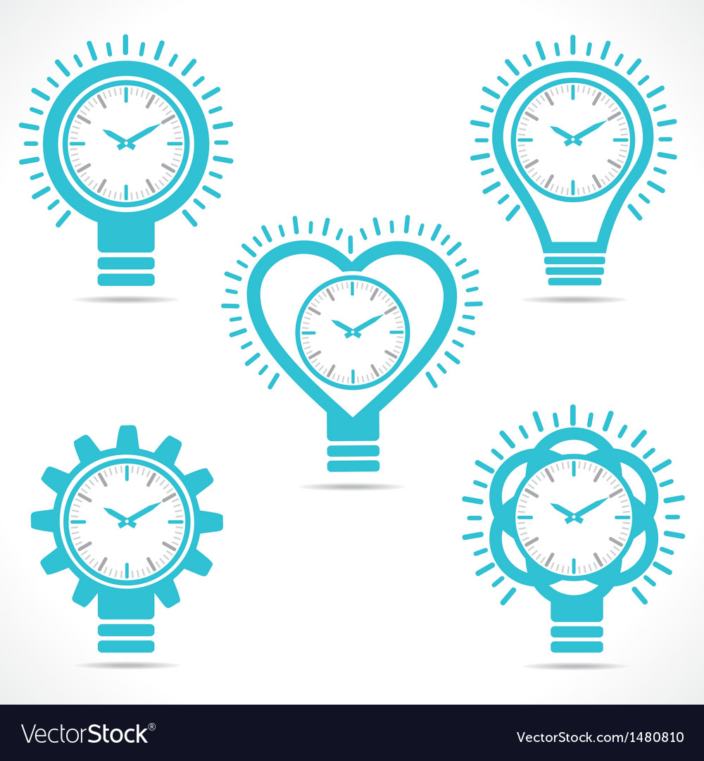 Different shape clock vector image