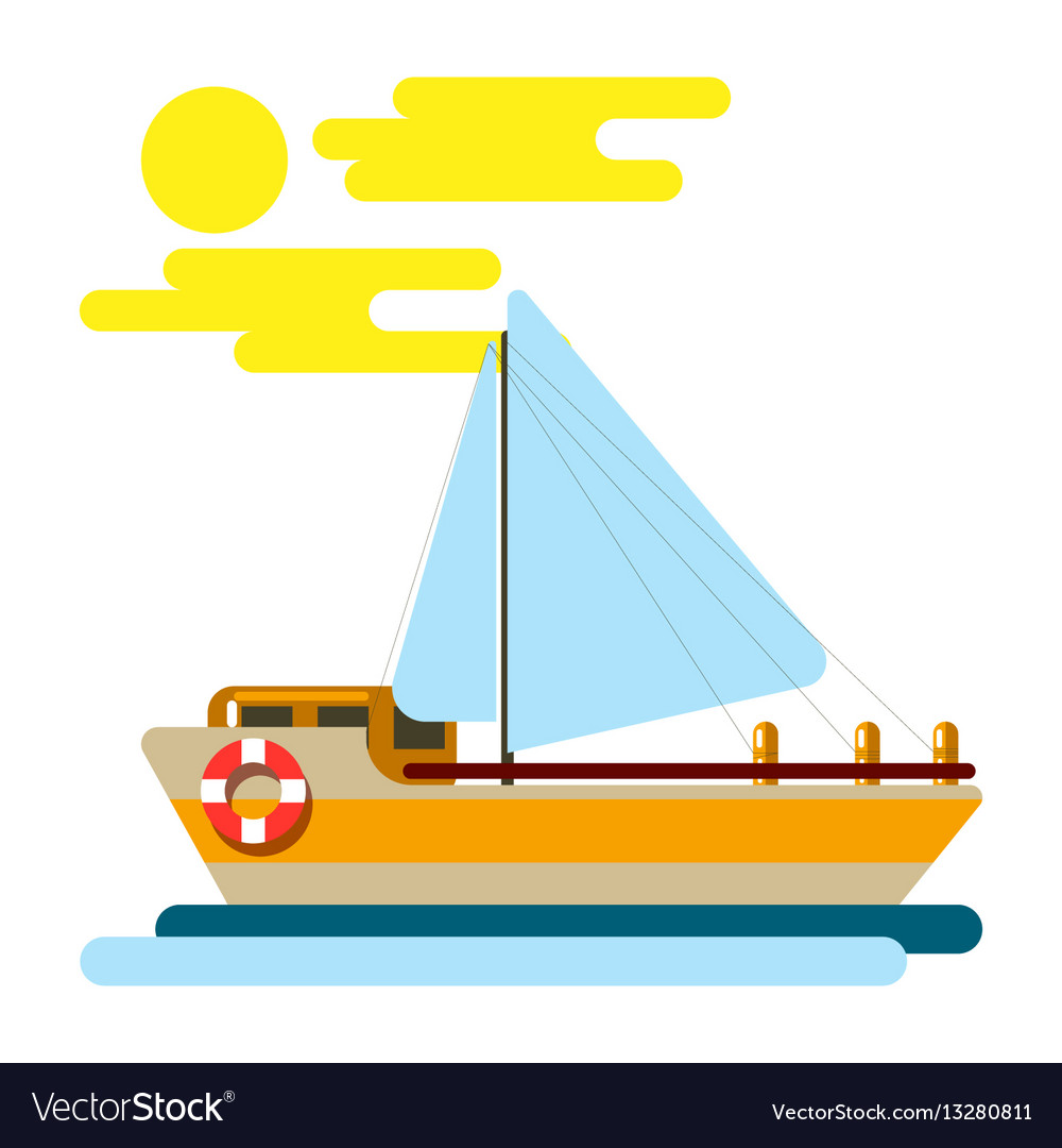 Summer vacation and sea cruise travel vector image