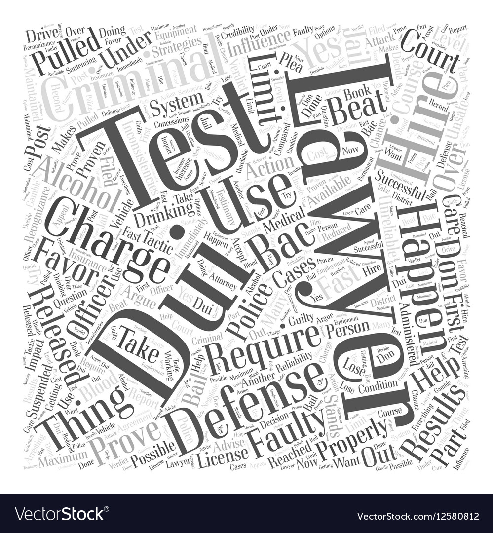 Hiring a Criminal Defense Lawyer for a DUI Charge vector image