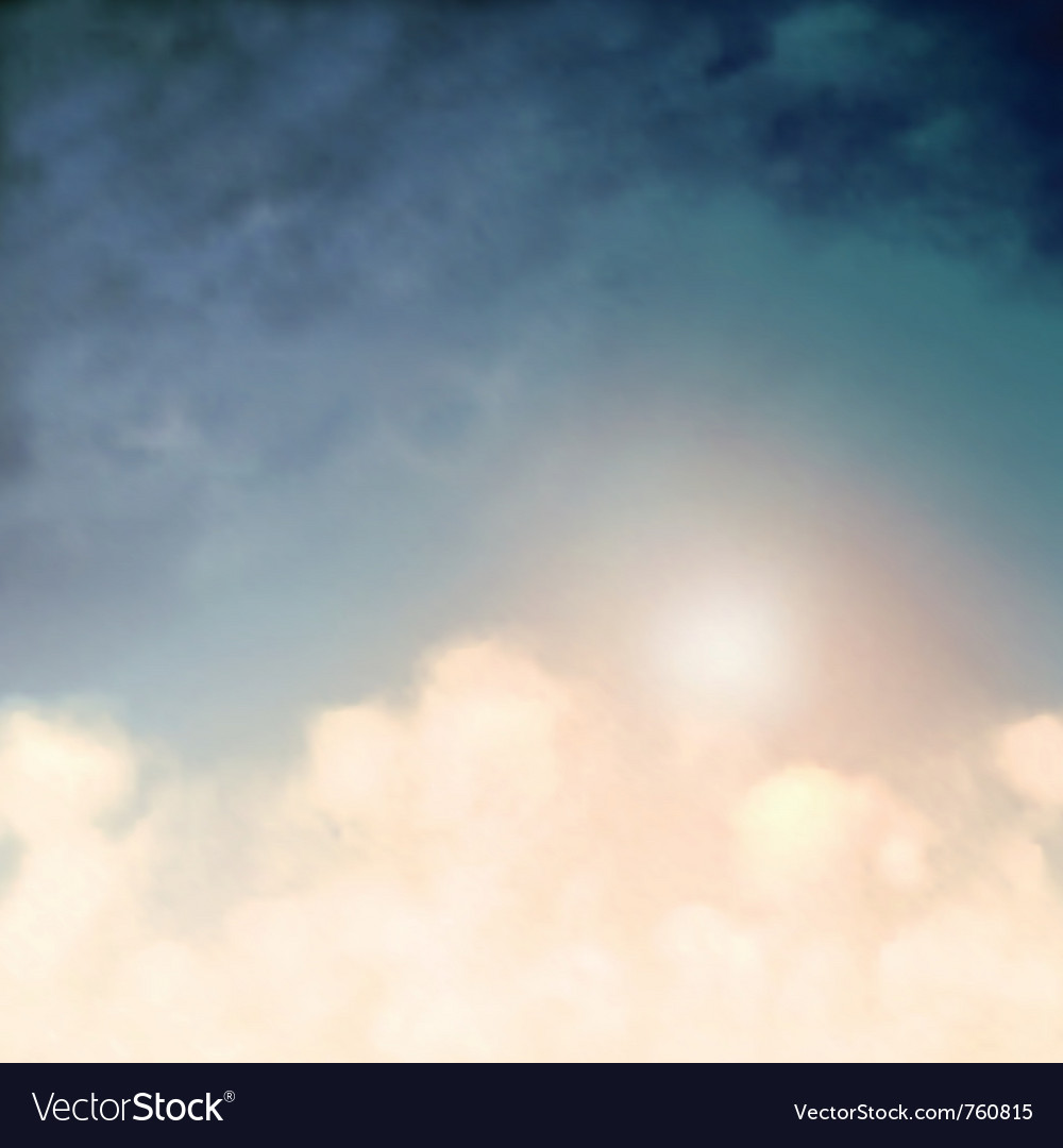 Above the clouds vector image