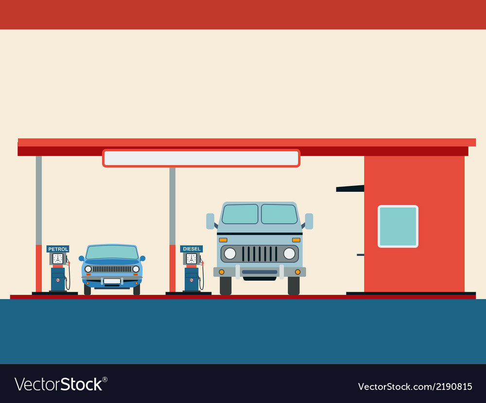 Fuel station vector image
