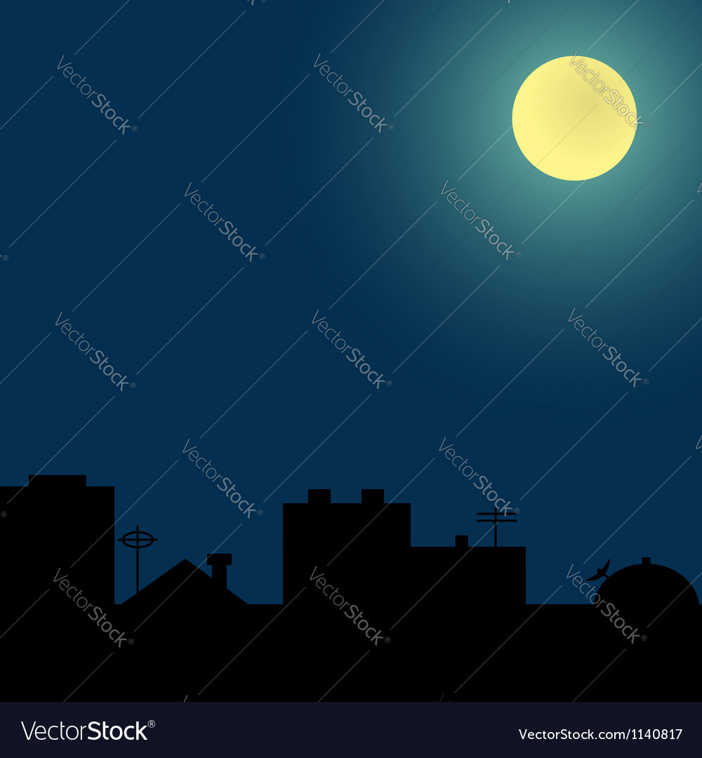 Background with silhouettes of roofs vector image
