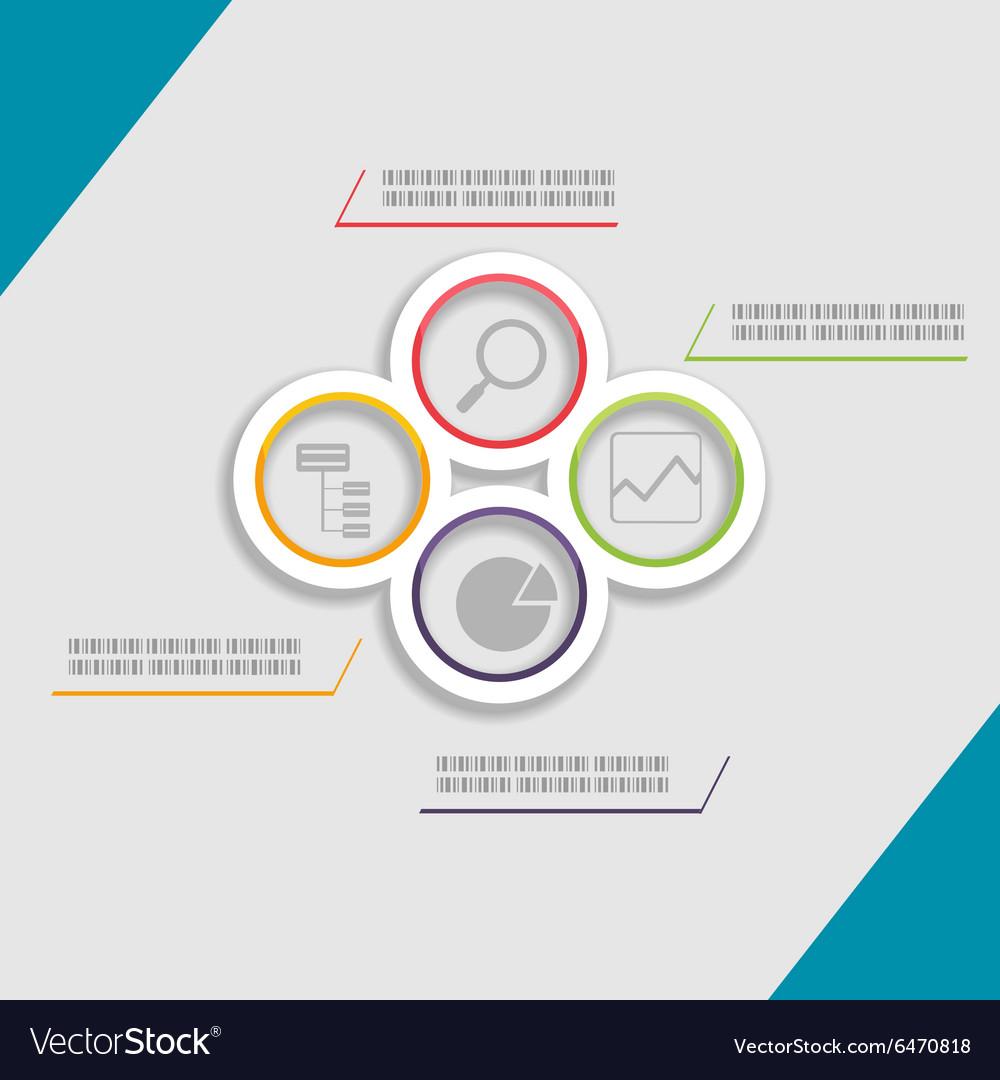 Circle Modern Template Presentation Style vector image