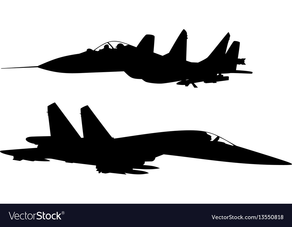 Military fighter vector image