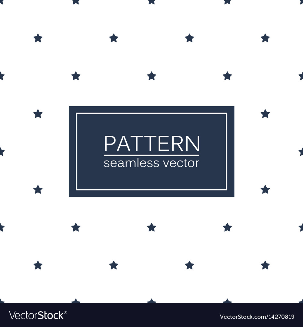 Simple seamless patterns with blue stars vector image
