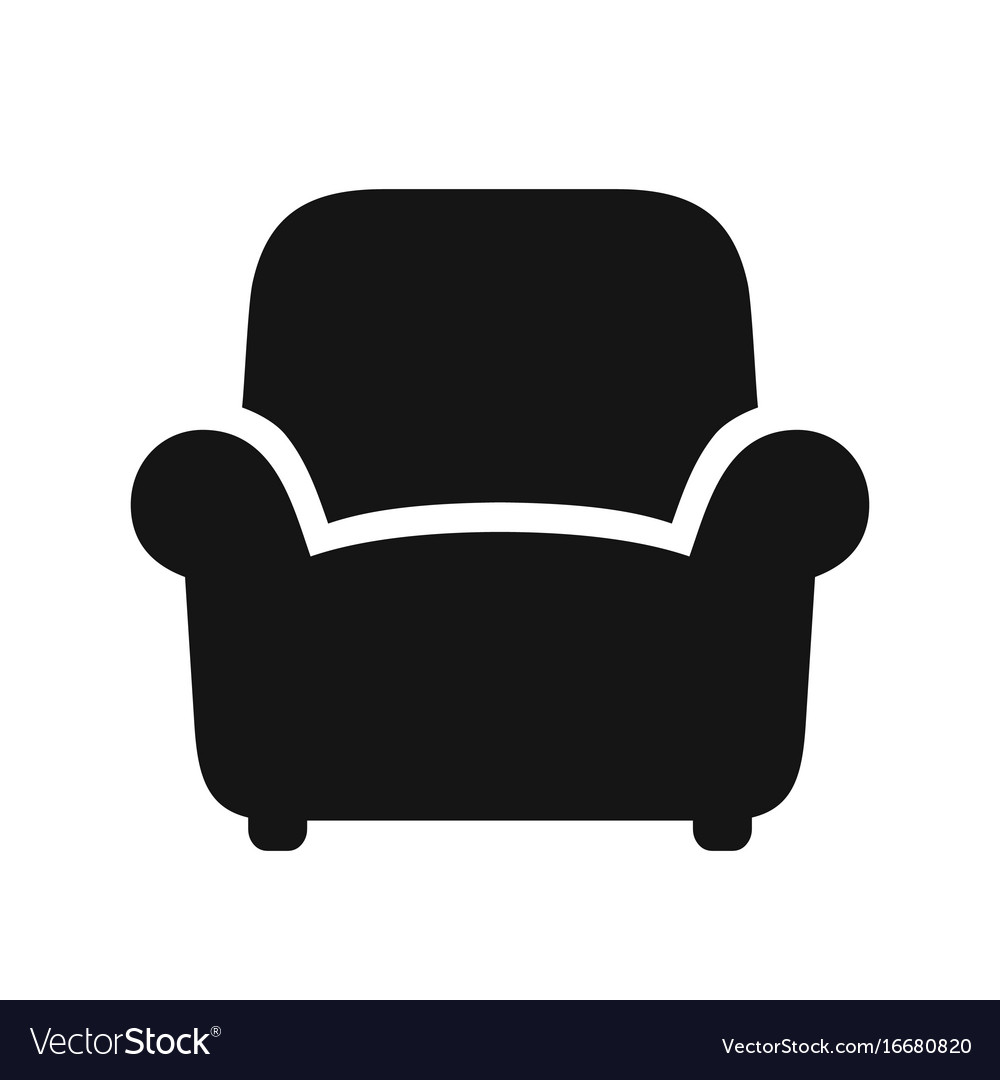Armchair black icon vector image