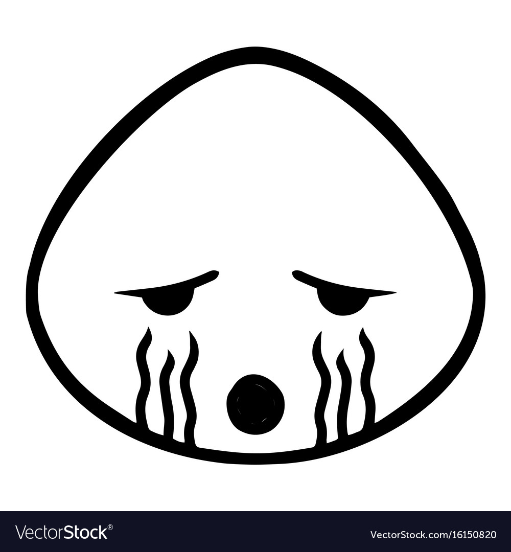 Thin line cry icon vector image