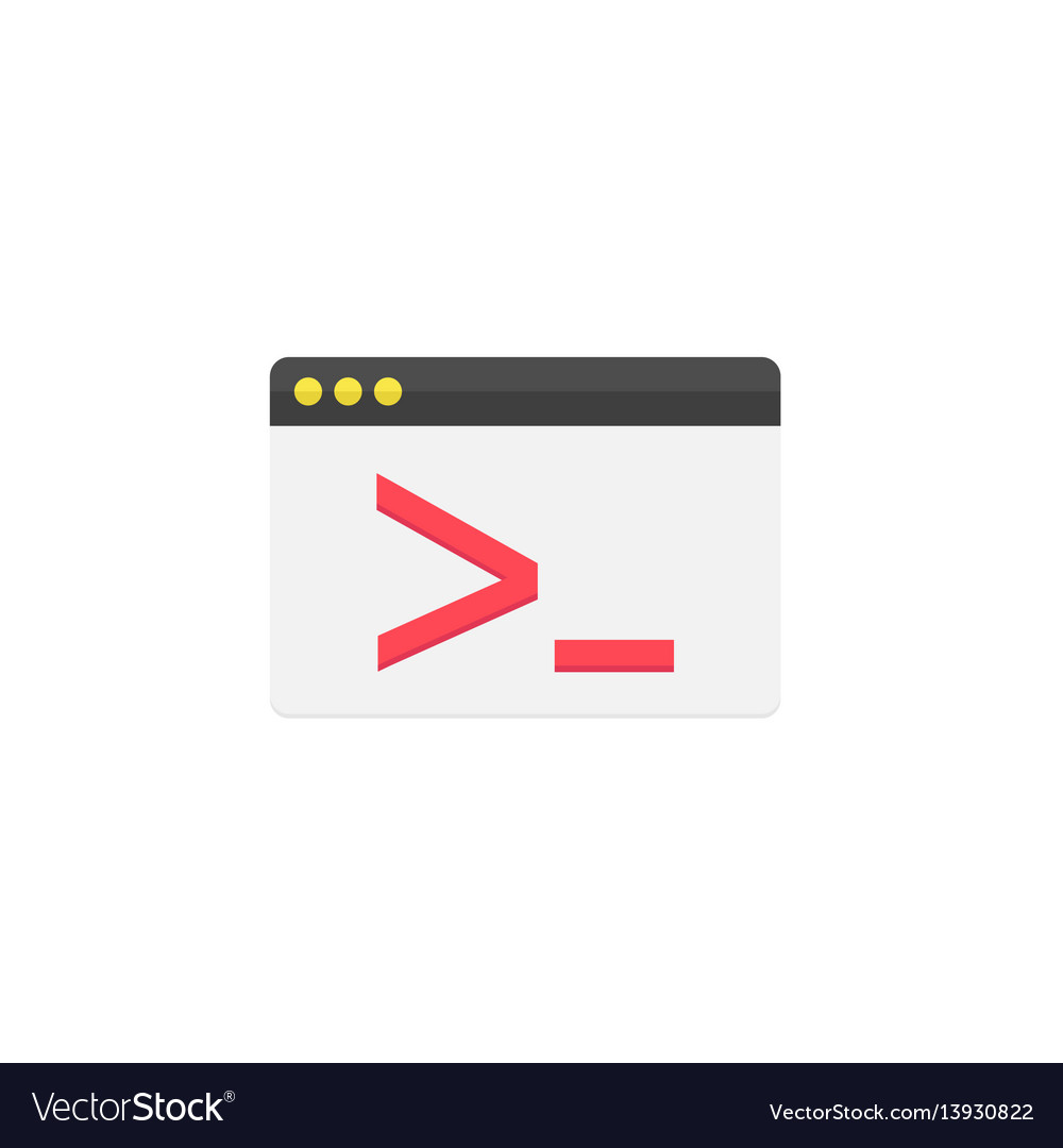 Custom coding flat icon vector image