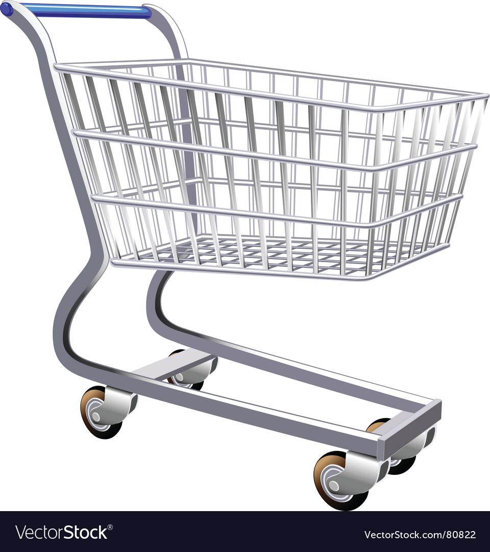 Stylized shopping cart vector image