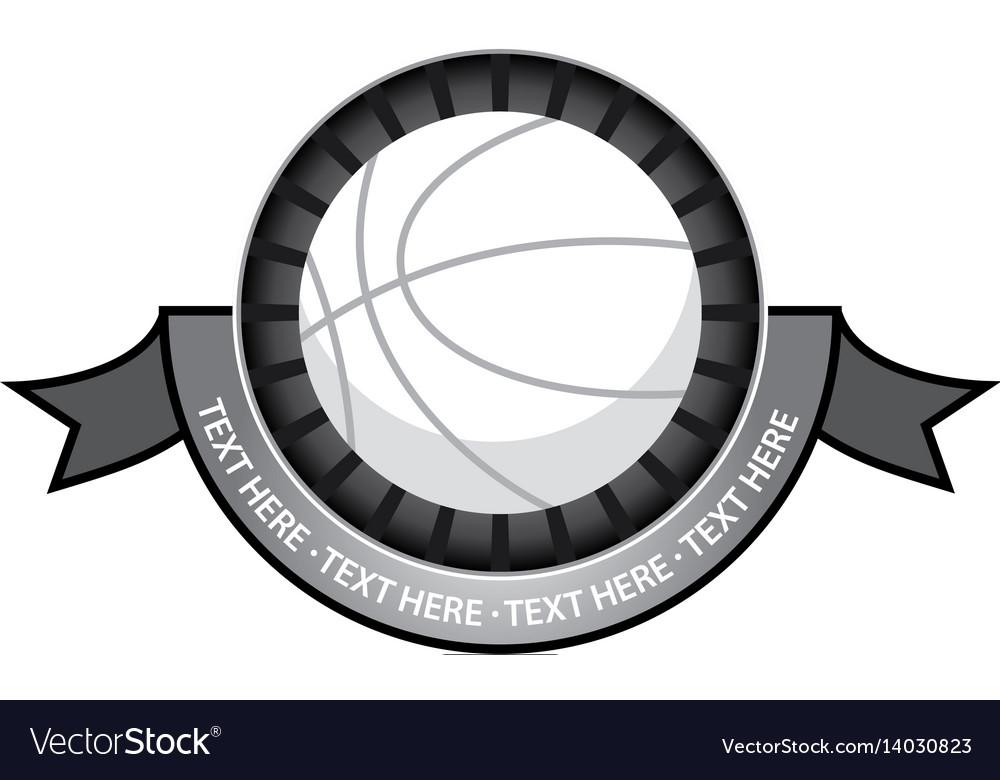 Basketballl emblem retro vector image