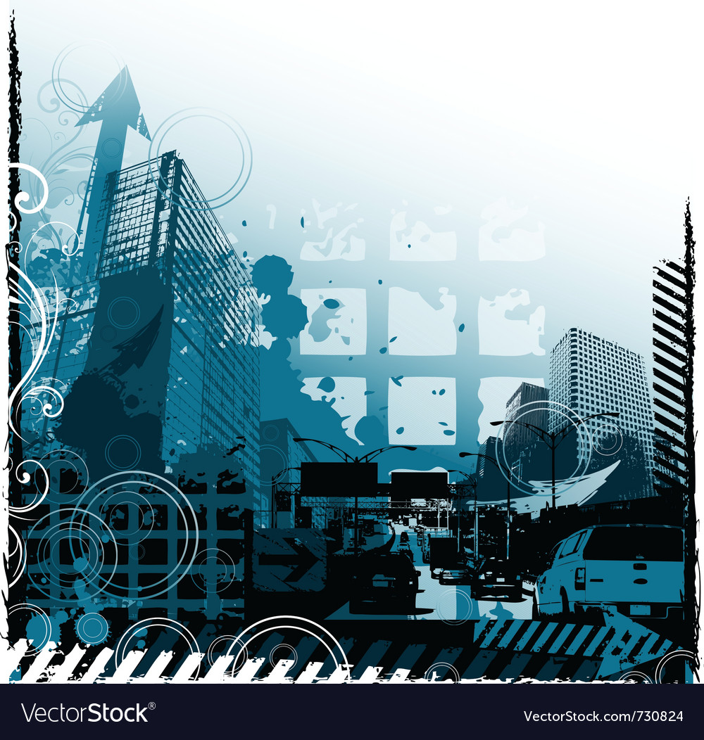 Grunge urban design vector image