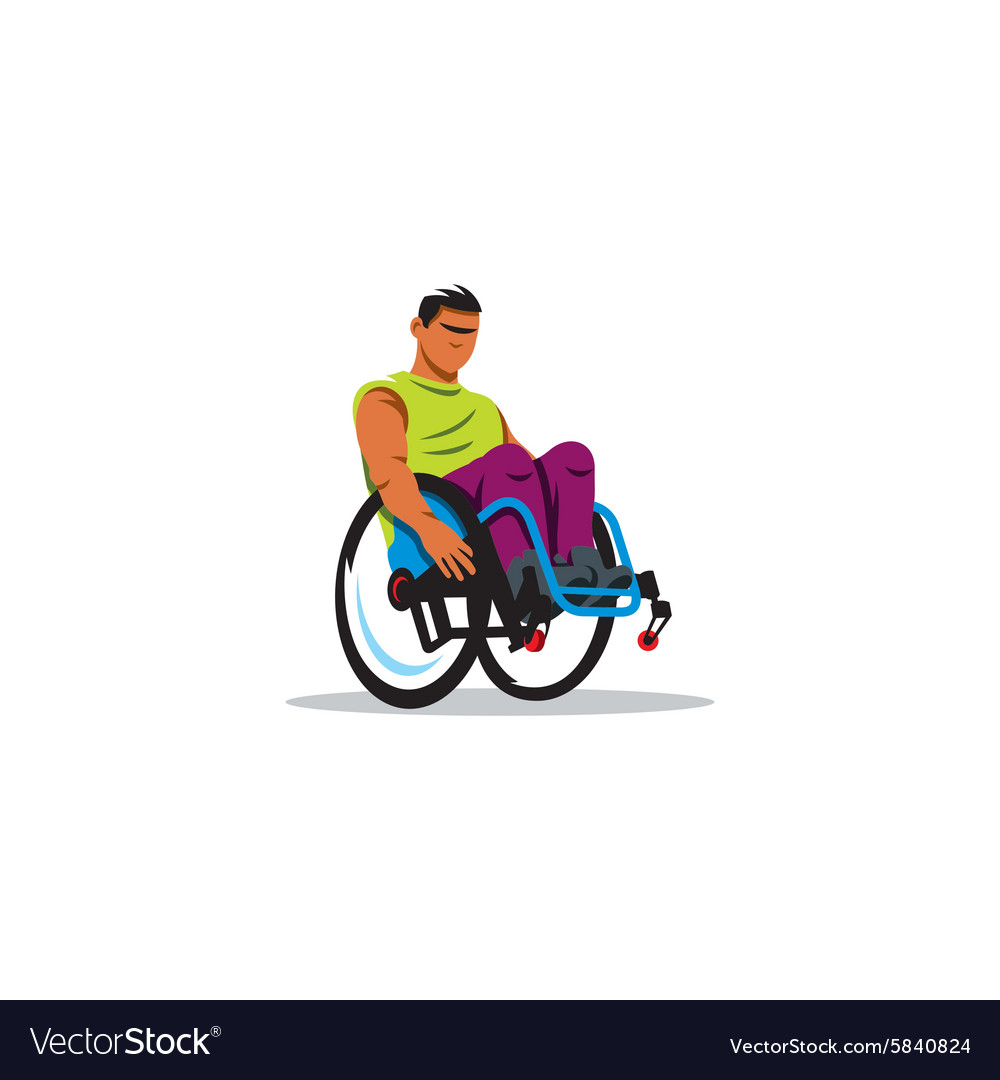 Man in wheelchair sign vector image