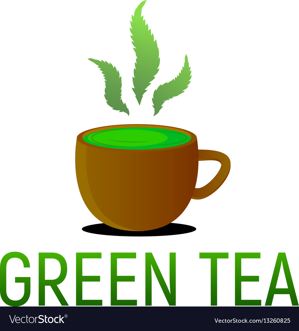 Green tea from cannabis hemp vector image