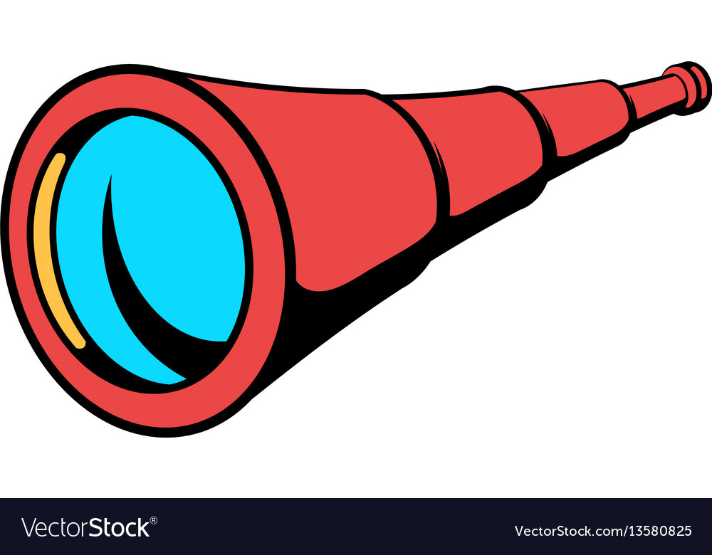 Spyglass icon in icon cartoon vector image