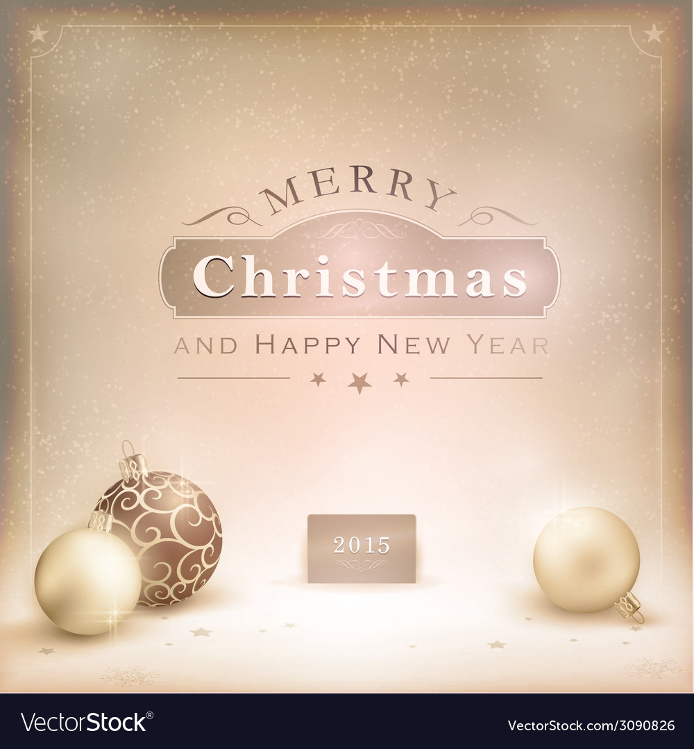 Desaturated golden Christmas background vector image