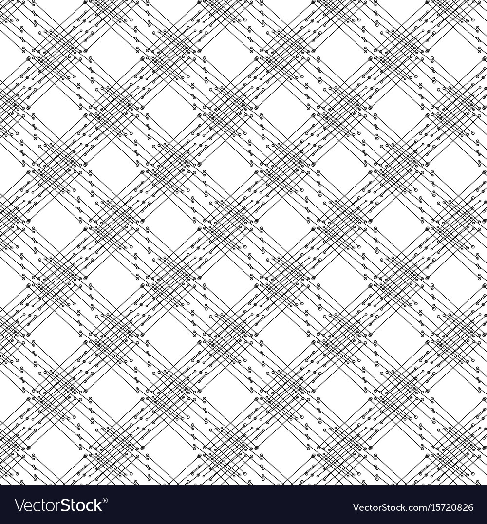 Pattern of lines and dots vector image