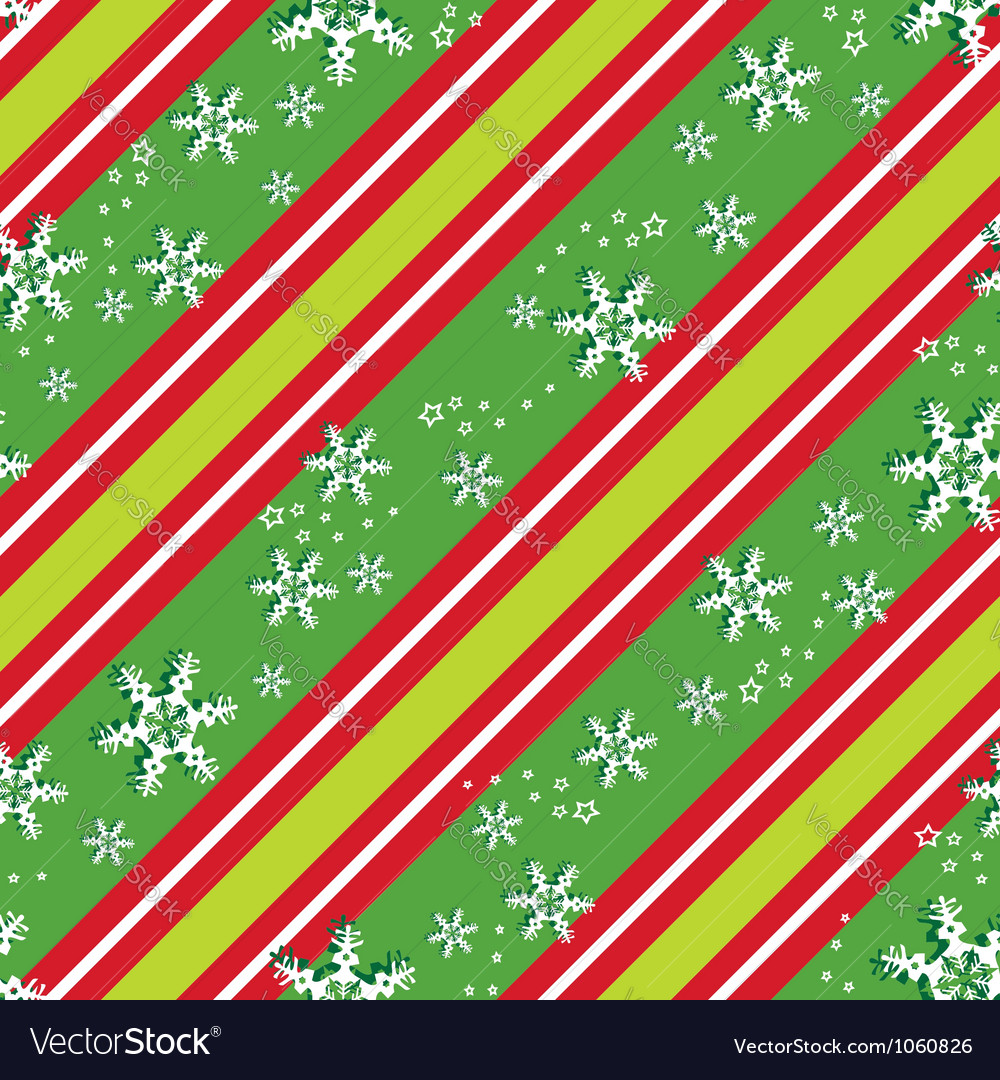 Seamless pattern in Christmas colors vector image
