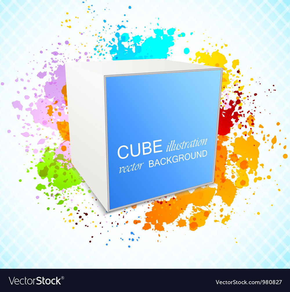 Background with cube vector image