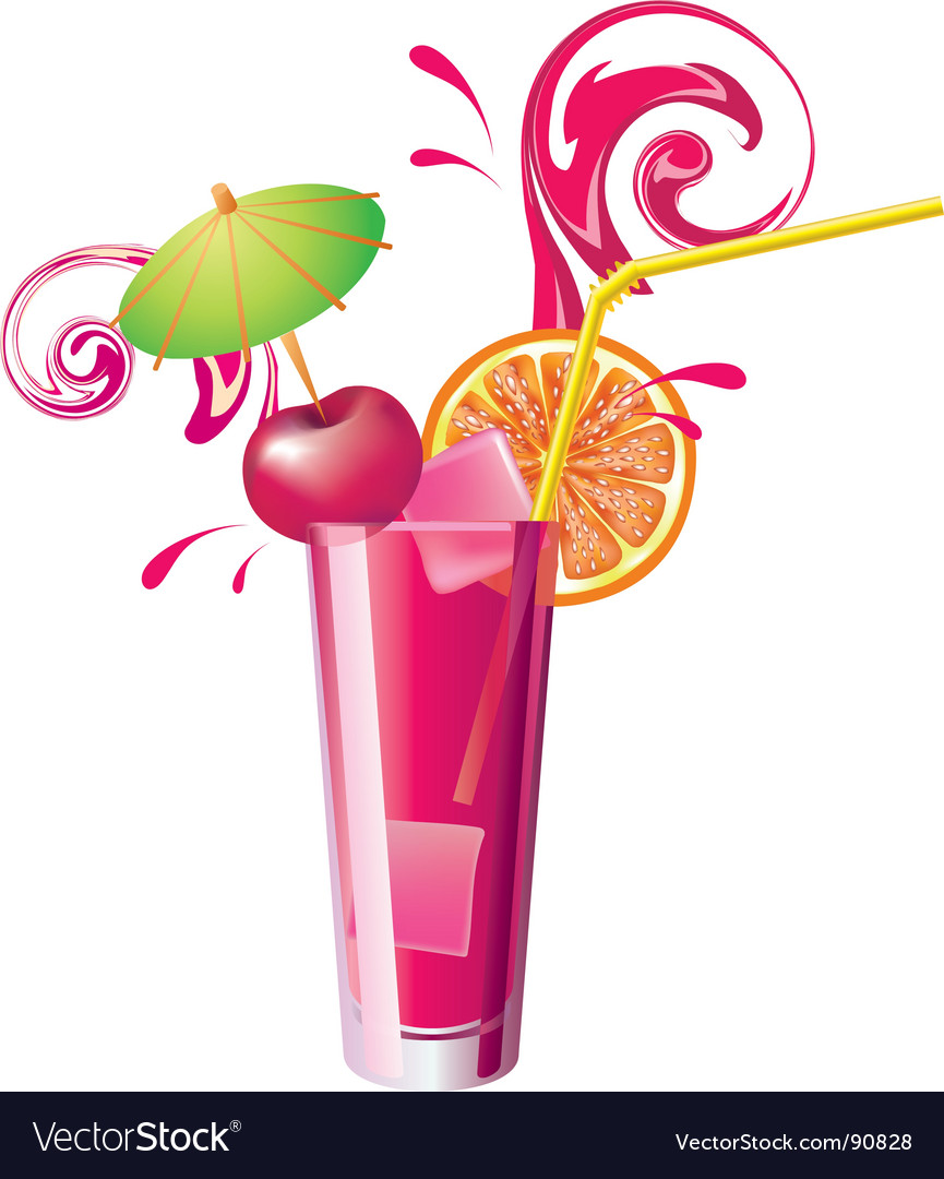 Cherry juice vector image